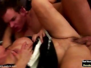 Boy Fucks And Cums Inside Old Granny
