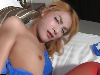 Red Nylons Transsexual Anal Bareback