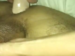 Milf Long Dildo In Husband Ass