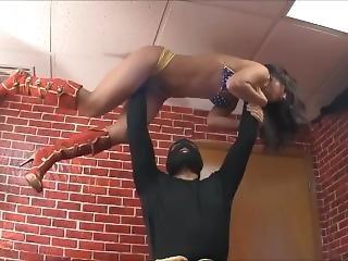 Superheroine Lifted Overhead