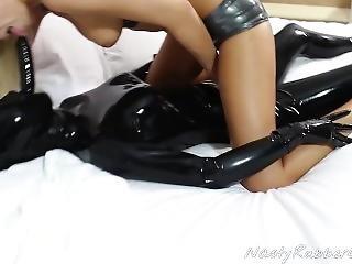 deepthroat, gode, fétiche, lesbienne, masque, masturbation, jouets