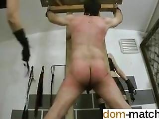 Date Her At Dom-match.com - 2 Czech Mistresses Whipping Slave