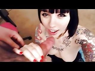 Tattoo Bitch Sucking Dick From Leakedamateurcams Com