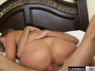 Liza hears stepbrother fucking and wants some of his cock