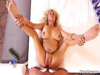 Busty Natural Milf Gets Anal Cream Pie