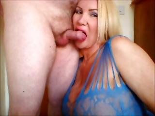 British Milf Licks That Cock And Wanks It