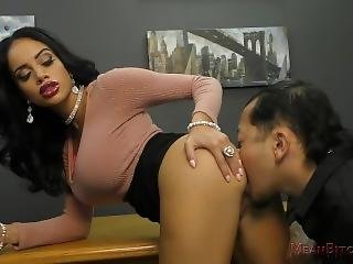 Victoria Makes Her Co-worker Worship Her Ass - Femdom - Victoria June