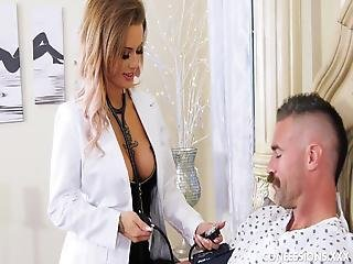 Tattooed Nurse With Big Tits Wants To Fuck Her Patient