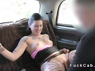 Cab Driver With Condom Fucks Hungarian