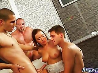 Bisexual Orgy Cum Spray