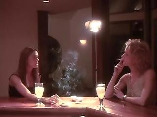 Two Hotties Smoking And Drinking (nn)