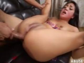 anal, brunette, extrême, brusque, vaginal