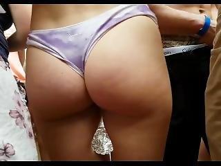 Beach Concert Bikini Teen Groped (butt Squeeze Included!!)