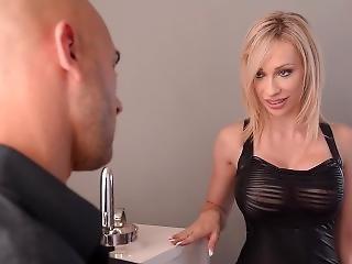 Blonde Bondage - Hogtied & Fucked