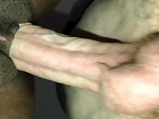 Skinny White Guy Barebacks Ebony Tight Pussy + Twerk On Cock Big Ass