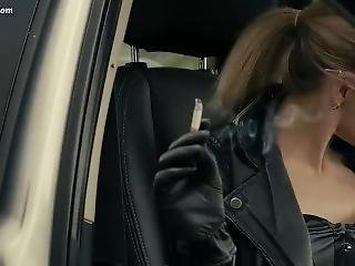 Smoking In Leather