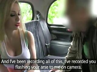 Busty Blonde Fucks Huge Dick In Fake Taxi In Woods