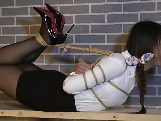 Strict Hogtied Chinese Girl