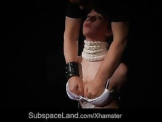 Brutal Whips Of Dripping Pleasure For Bondage Young Slave