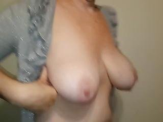 My Sexy Wife Dropping And Playing With Her Tits