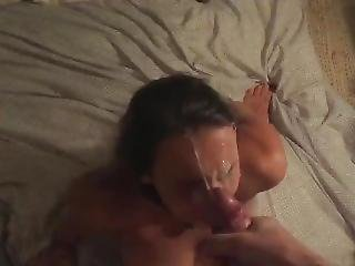 Mariah Leonne Facial Cumplation (with Slow-mo)