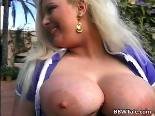 Unbelievable Busty Blonde Slut Sucks