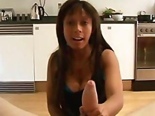 Ebony Slut Will Not Stand For This Behaviour As She Wanks Him Harshly