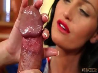 Brunette, Cumshot, Dick, Handjob, Snow, White