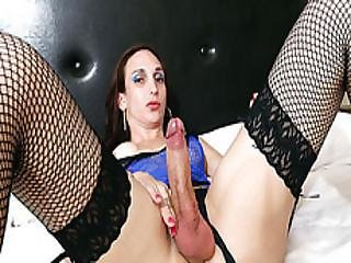Brunette Shemale Cintia Simoes Loves Getting Her Big Ass Fucked Deep By Huge Cock