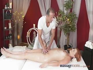 Massage Rooms Leggy Redhead Stunner Has Intense G Spot Orgasm