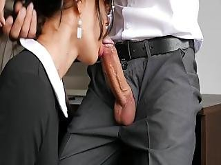 Amateur Anal And Blowjob For Horny Secretary With Her Office Boss