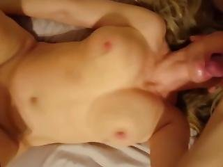 Wife With Great Natural Bouncing Boobs In A Threesome