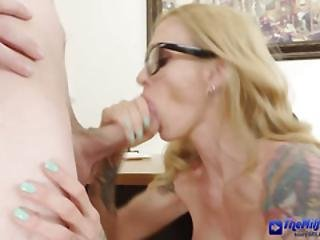 Horny Stud Is Fucking Her On The Office Desk