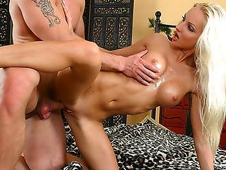 Sexy Slim Blond With Fake Tits Veronica Gets Hardcored