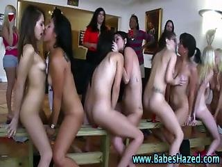 College pussy teen pledges toying that can not