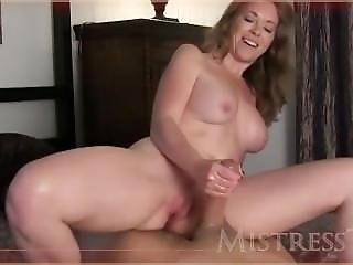 Goddess With Perky Tits And Heavenly Hands Works His Cock