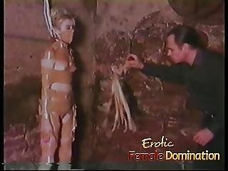 Totally Helpless Blonde Dominated And Humiliated In A Moldy