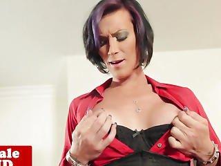 Breasty Alt Pierced Tranny Solo Undress And Jerk