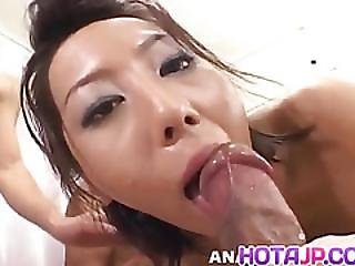 Tsubasa Okina Asian Temptress Blindfolds Boyfriend For Exciting Pussy Licking Before She Gets Roughly Banged In Threesome