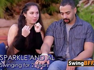 Unusual Costumed Couple Parties On The Swingers Limo