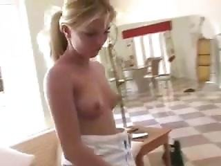 Amateur, Blonde, Cucumber, Masturbation, Solo
