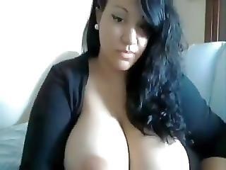 Amateur, Incroyable, Bbw, Gros Sein, Seins, Webcam