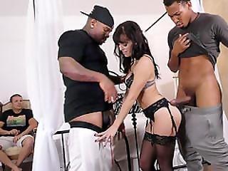 Alana Cruise Invites Black Men For Some Double Penetration