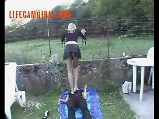 Trampling - Kicking - Femdom Www.lifecamgirls.com
