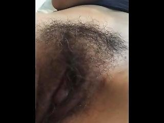 Closeup Of My Wife Fingering Her Hairy Pussy Until Orgasm!!!!