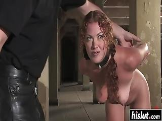 After Sabrina Fox Got Tied Up, She Got Punished By Two Strangers