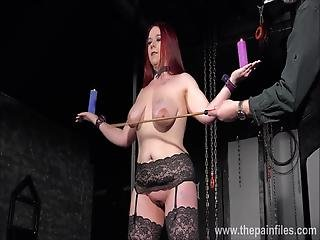 Amateur Slave Kittys Breast Whipping And Bare Bottom Caning