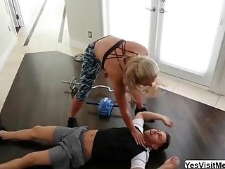 Fit Muscular Milf Phoenix Marie Train And Encourage Seth To Help Her For His Military Test She Wants Her To Workout Like A Pro She Wants To See Seth Cock And Cannot Help Her Self And Wraps Her Lips Around Her Watch This Two Fucks And Sweats On Their Sexircise