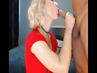 Hot Sexy Blonde Blowjob Big Cock Deep Throat Ass And Balls Licking