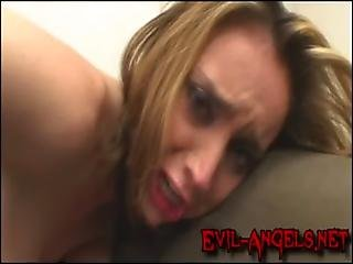 Kelly Wells brutally double anal fucked and jizzed in her mouth